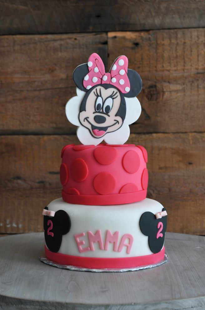 G teau mini mouse rose anniversaire fille f te b b pinterest anniversaire fille - Gateau anniversaire bebe fille ...