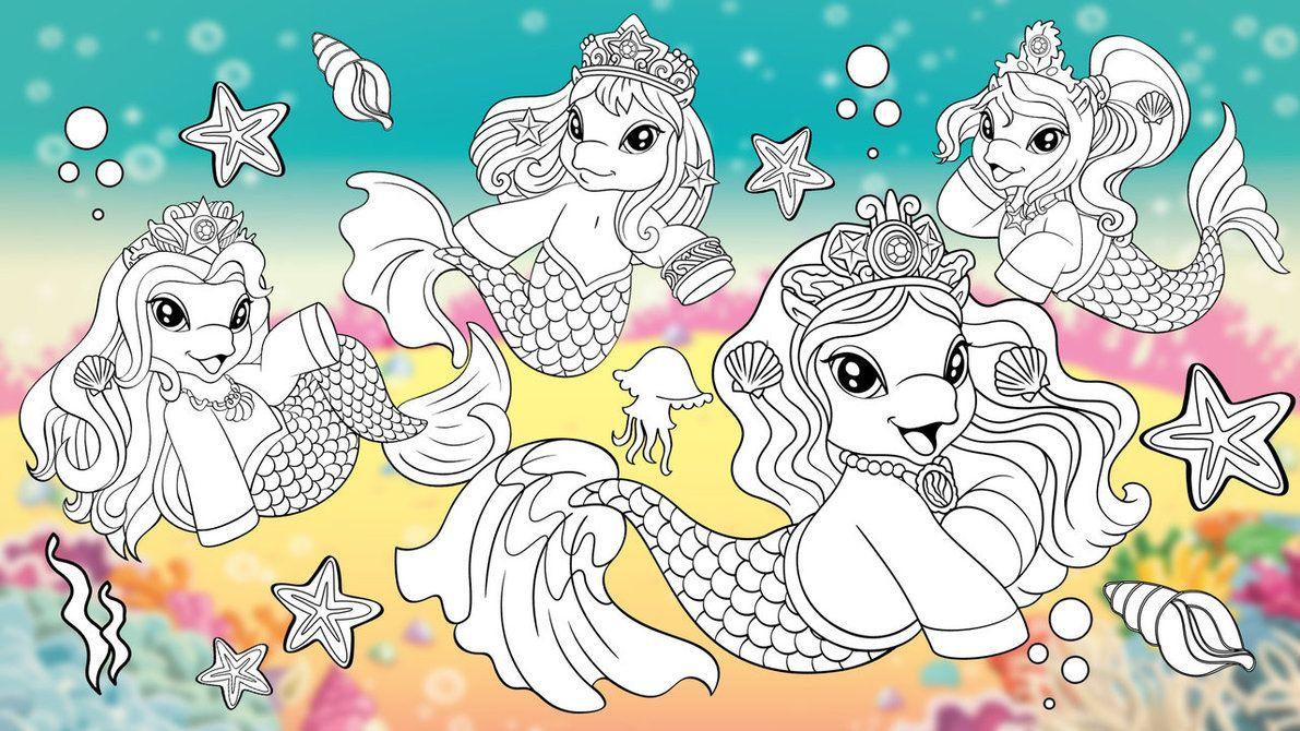 filly pferde meerjungfrau ausmalbilder  coloring and drawing