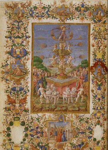 I trionfi, Petrarca. Biblioteca nacional de España, Madrid (I)