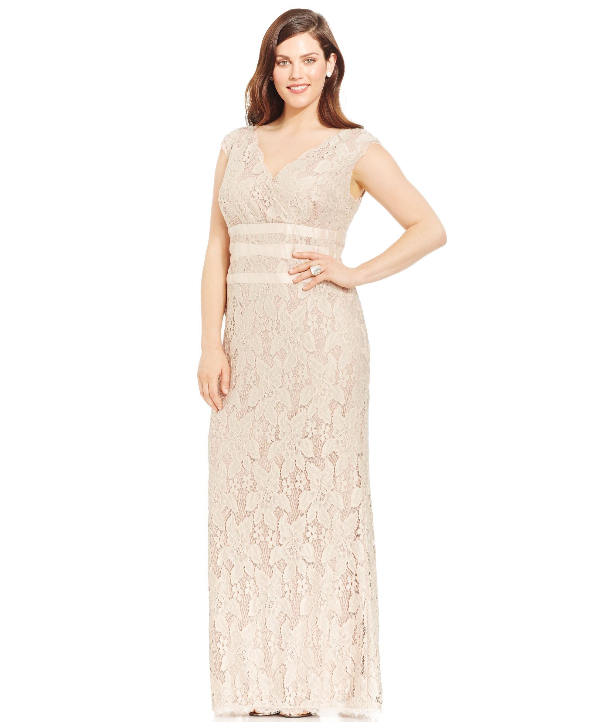 Adrianna papell plus size lace gown products pinterest products