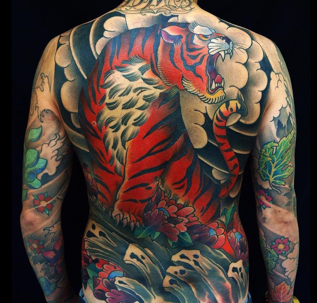 Full back tiger tattoo Japanese tattoo, Japanese tattoo