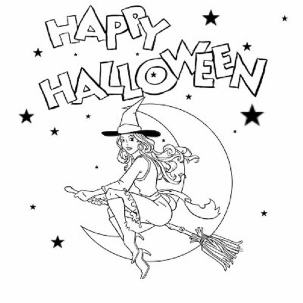 Good Halloween Coloring Pages For 3 Year Olds