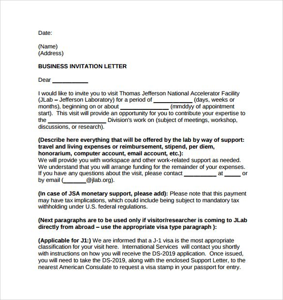 business invitation letter download free documents pdf word party - business event invitation letter