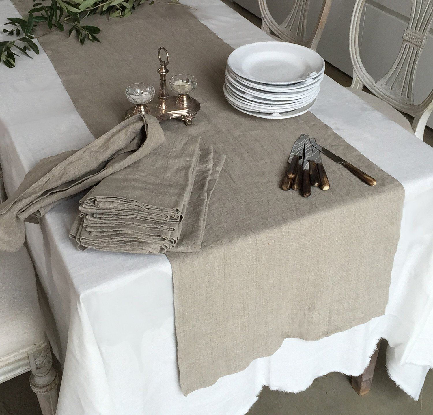 Elegant Tableware For Dining Rooms With Style: Rough Linen