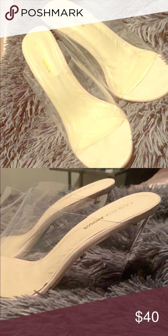 7e07051ee7f  clearwedge  wedge  heel  fashionnova Clear wedge fashion nova heels .  Never worn