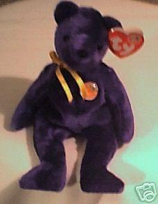 the Bear Ty Beanie Baby SAPPHIRE BBOM