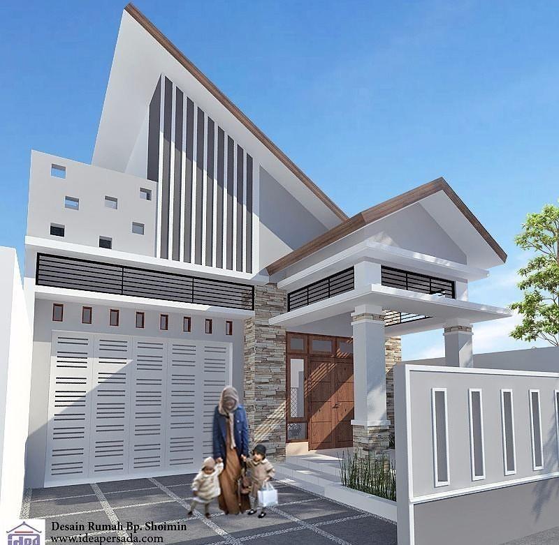 Desain Rumah Minimalis Tampak Depan Dengan Batu Alam Dengan Atap