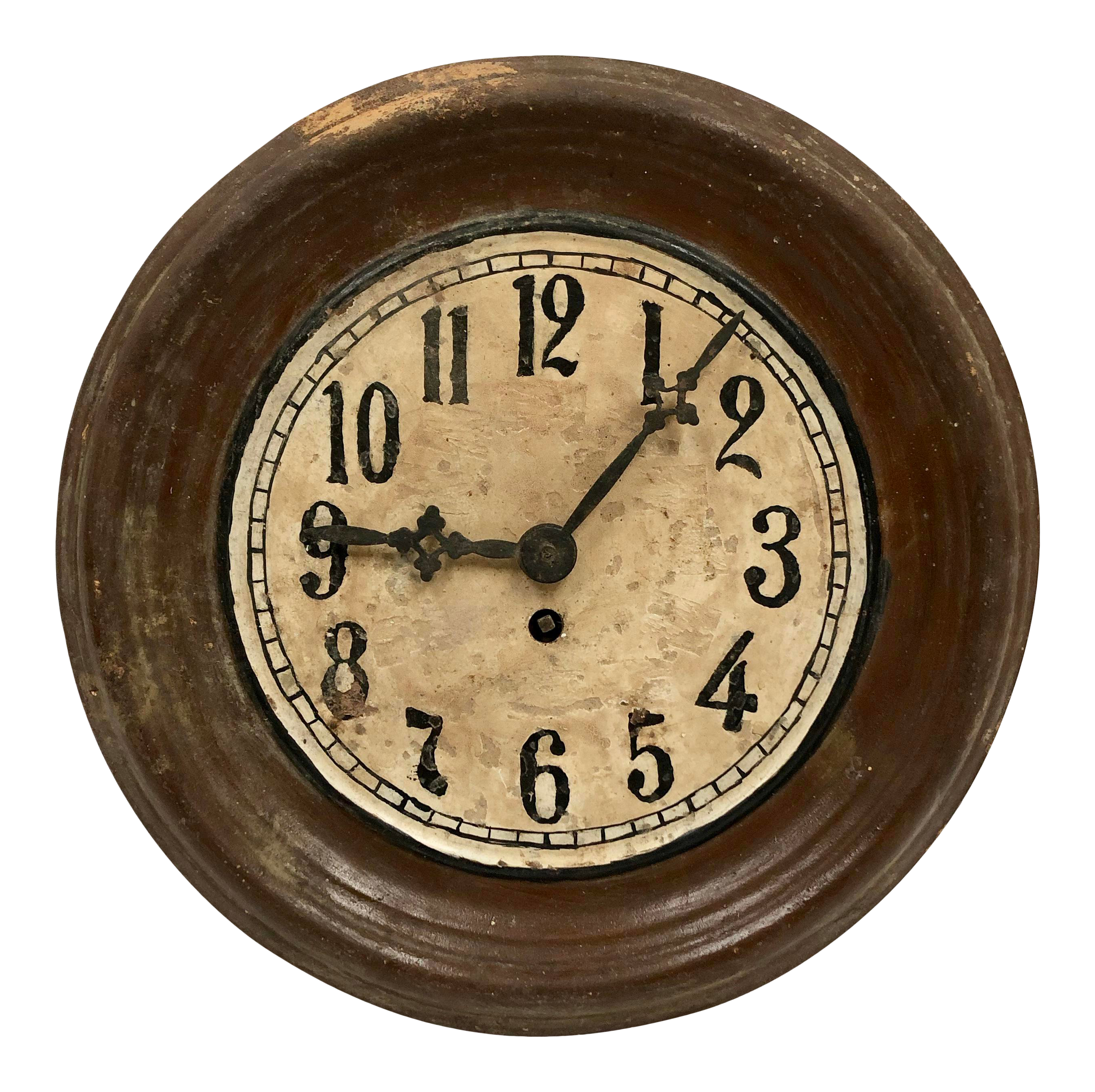 1930s Vintage Hungarian Hand Painted Wall Clock Hand Painted Walls Clock Wall Painting