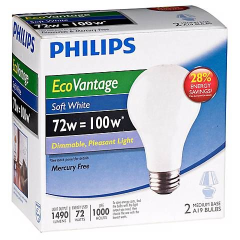 72w Equivalent 100 Watt 1490 Lumens Soft White Halogen Bulbs U5885 Lamps Plus Halogen Bulbs Philips Light Bulbs Saving Light