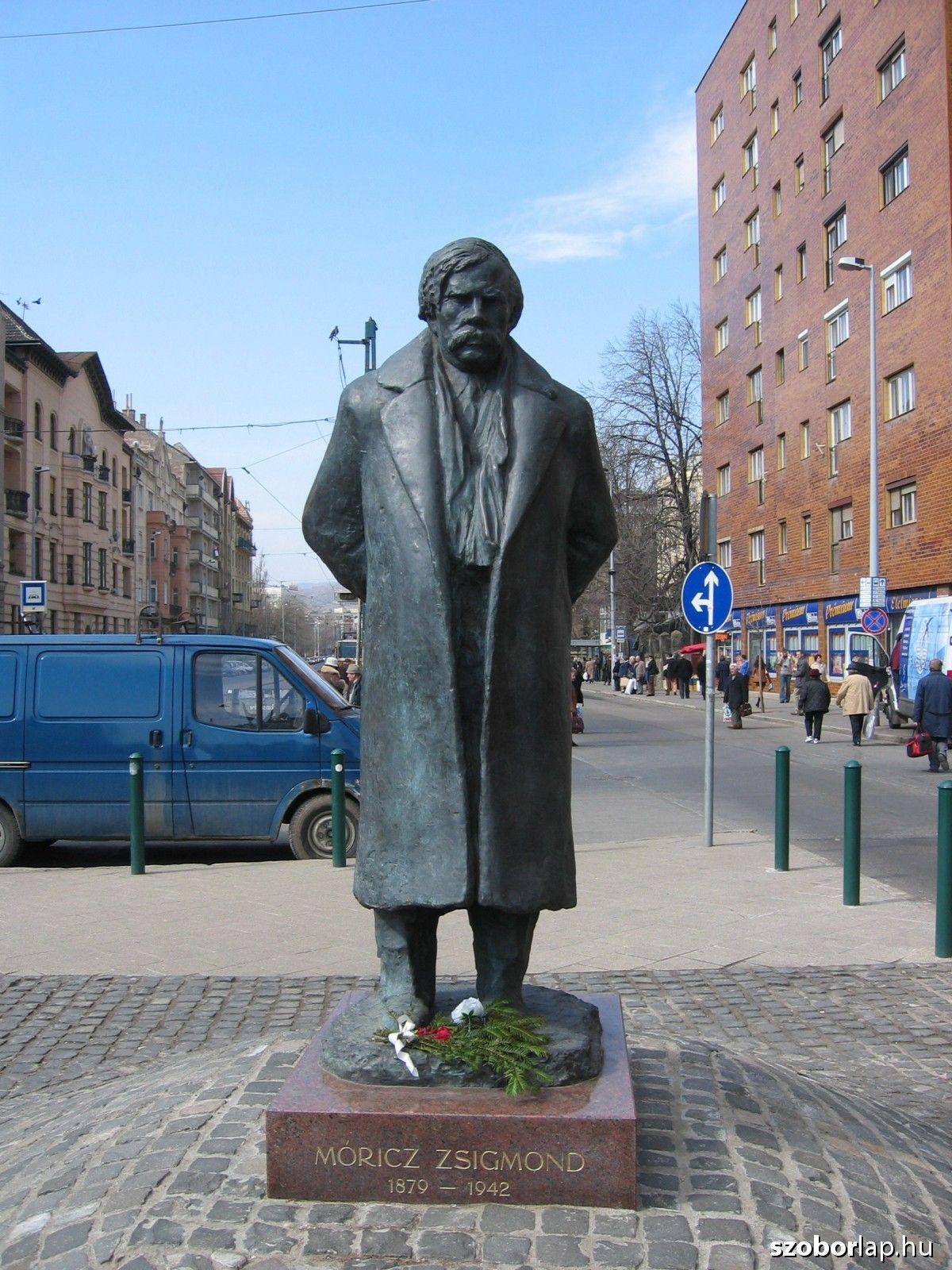 Móricz Zsigmond szobra - Budapest (Varga Imre, 2013)   Köztérkép