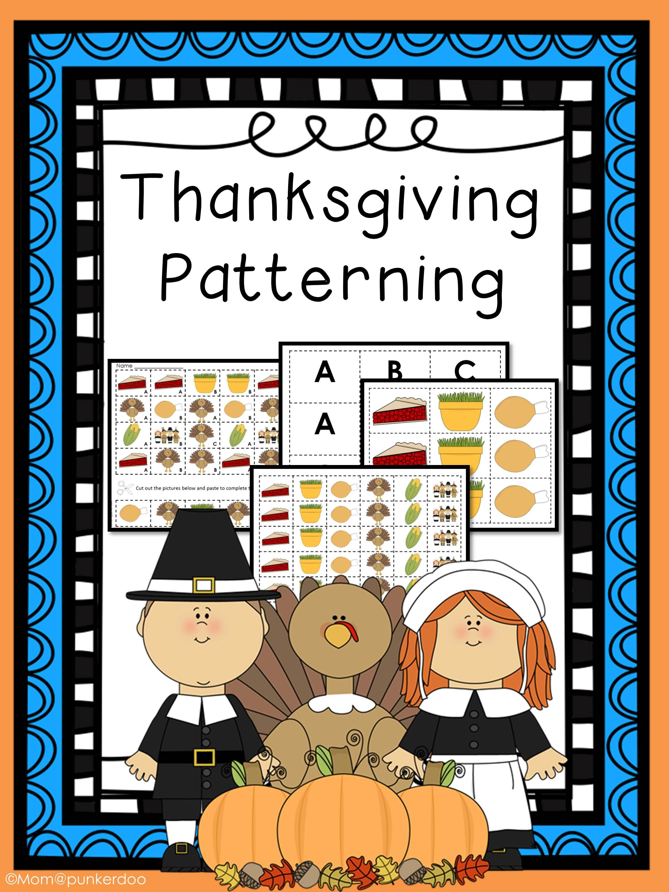 Thanksgiving Math Patterning