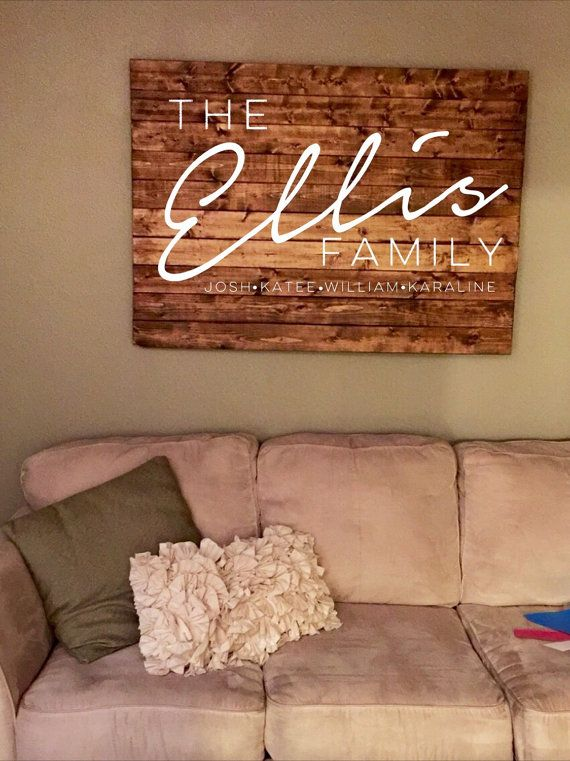 Extra Large Solid Wood Wall Sign Rustic Home Decor Wall Hang Solid Wood Family Name Sign Sol Living Room Decor Rustic Wooden Family Name Sign Wooden Wall Signs #rustic #signs #for #living #room