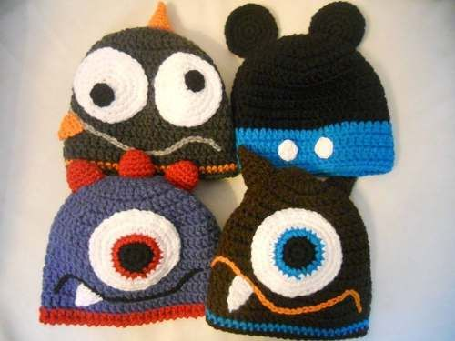 Gorros Tejidos artesanalmente Al Crochet Para Bebes  512c6552f1e