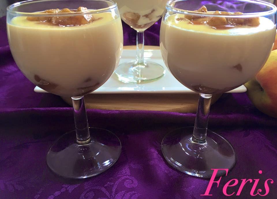 Bratapfel-Pudding            Zutaten:   2 Äpfel, gewürfelt     In einer Pfanne bei mittlerer Hitze 1-2 Min. anbraten   1 EL Honig   1 TL Zi...