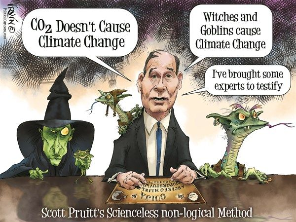 Image result for cartoons about scott pruitt