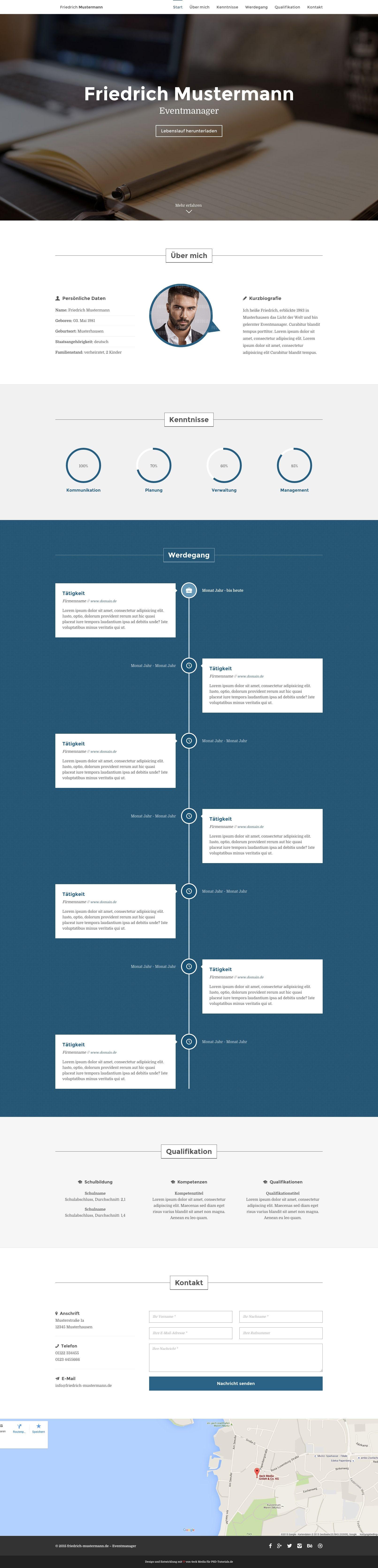 WordPress-Themes für moderne Onepager | Wordpress template ...