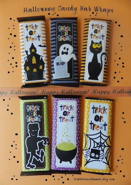 Wrap up Hershey Chocolate Bars with a whole lot of FUN! Halloween - halloween class decoration ideas