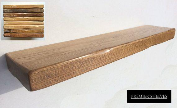 official photos c2c6d 873f5 Rustic Reclaimed Solid Oak Floating Shelf Mantels * 6 Deep x ...