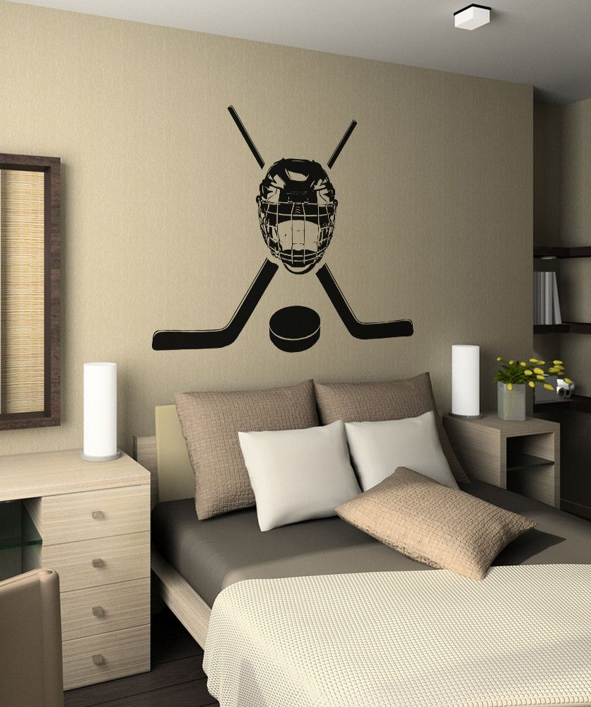 Vinyl Wall Decal Sticker Hockey Equipment OSAA722 Pinterest