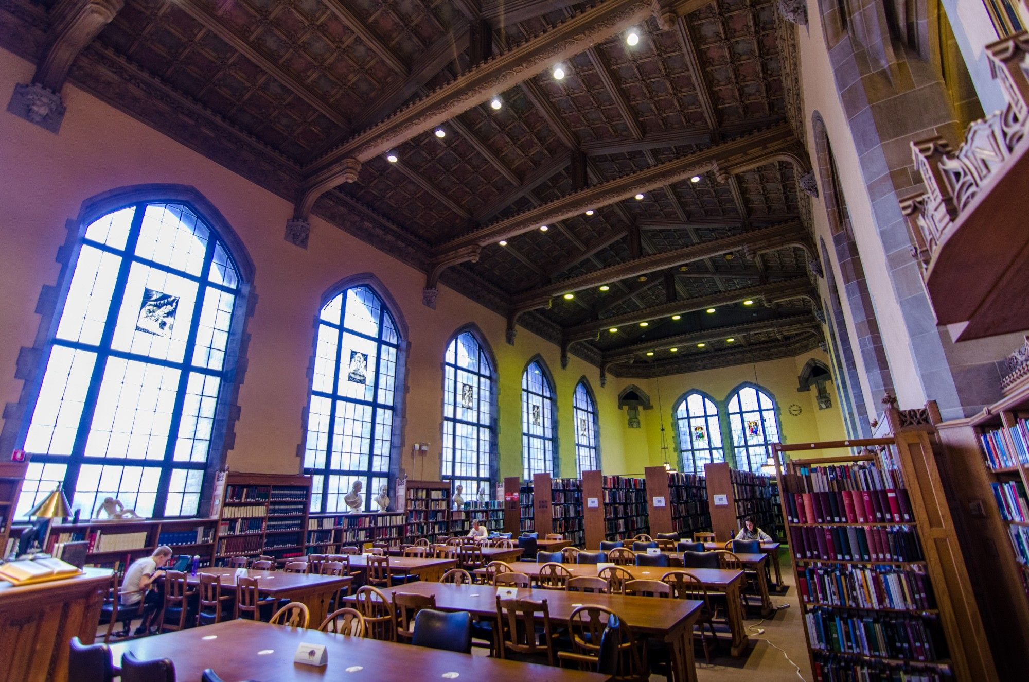 Experience the inspiring Collegiate-Gothic reading room of this dramatic library. #OHC2016