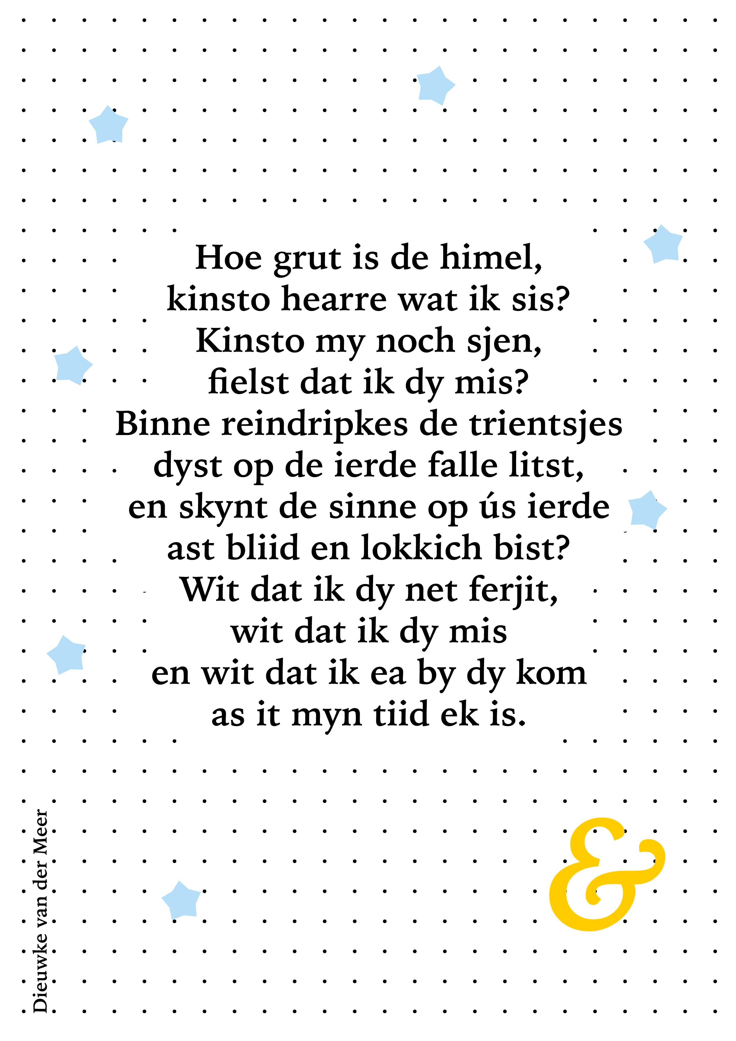 Gedichtsje Hoe Grut Is De Himel Rouw Teksten Citaten
