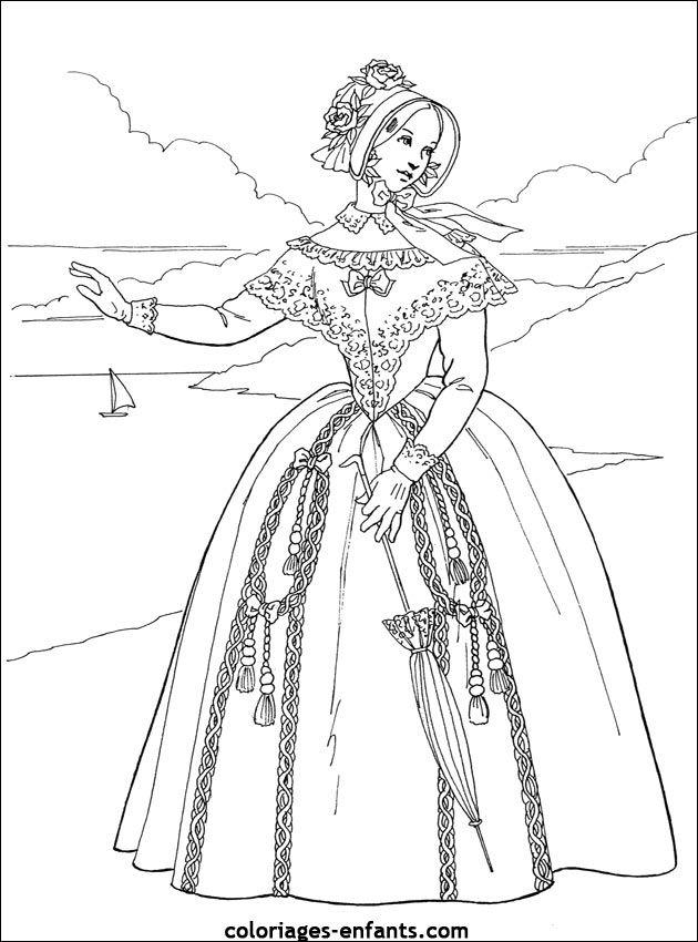 coloriages-princesses-43.jpg (630×850) | Stare stroje | Pinterest ...