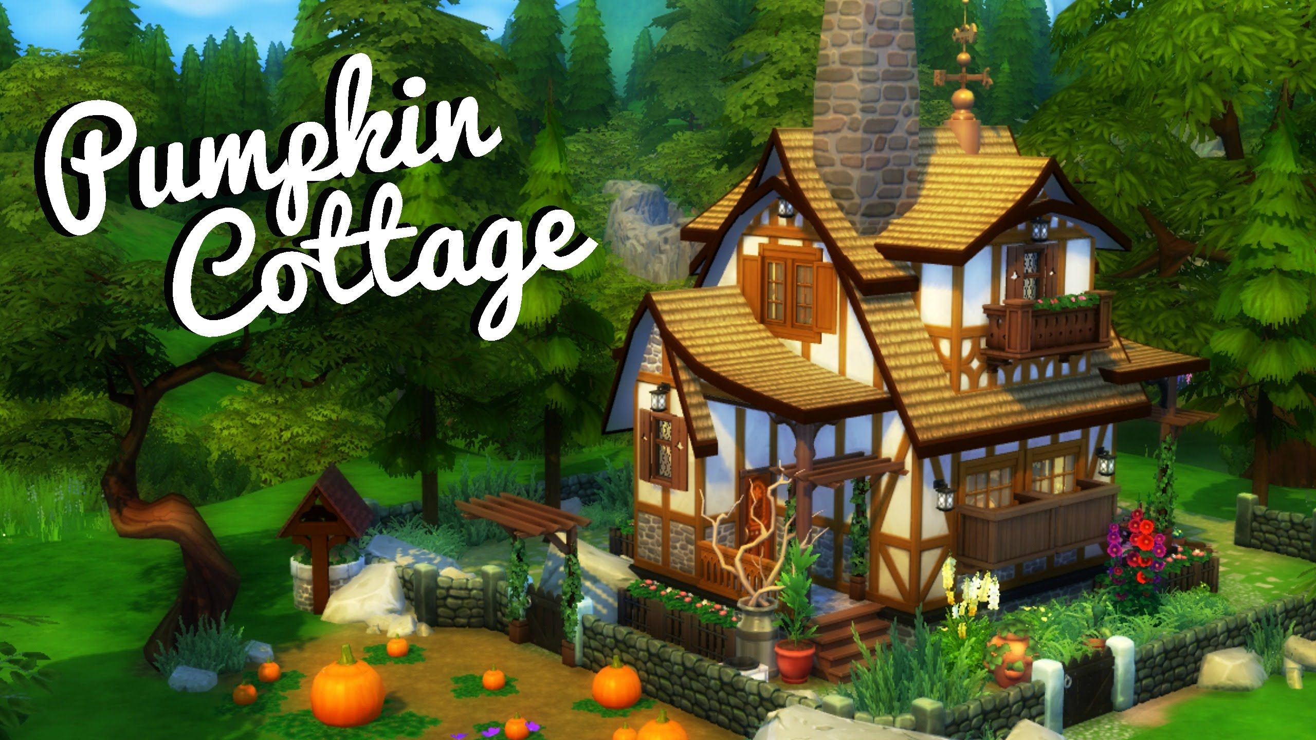 PUMPKIN COTTAGE Sims 4 House Build Sims 4 houses, Sims