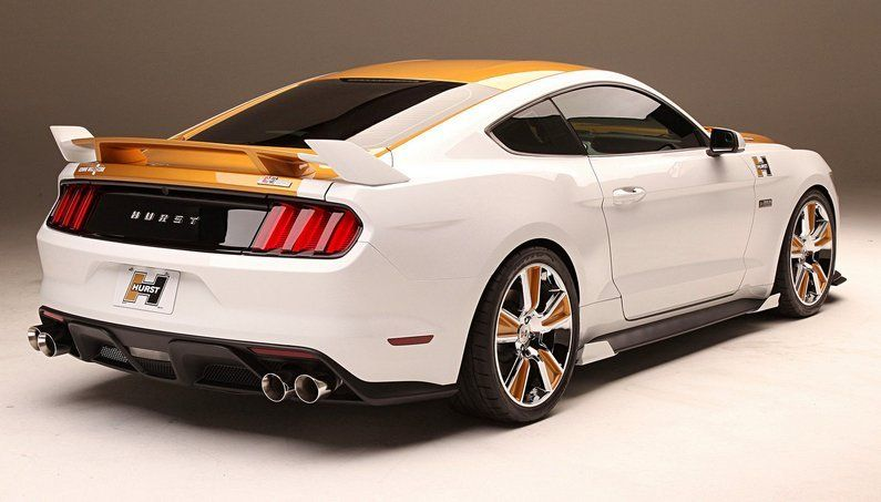 SEMA 2016 Hurst and Kenne Bell R-Code Gold and White Ford Mustang - & SEMA 2016: Hurst and Kenne Bell R-Code Gold and White Ford Mustang ... markmcfarlin.com
