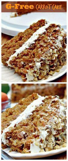 Gluten-free Carrot Cake (Moist and Fluffy) #glutenfree