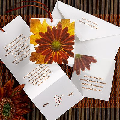 10+ images about Autumn Wedding Invitations on Pinterest | Ink ...