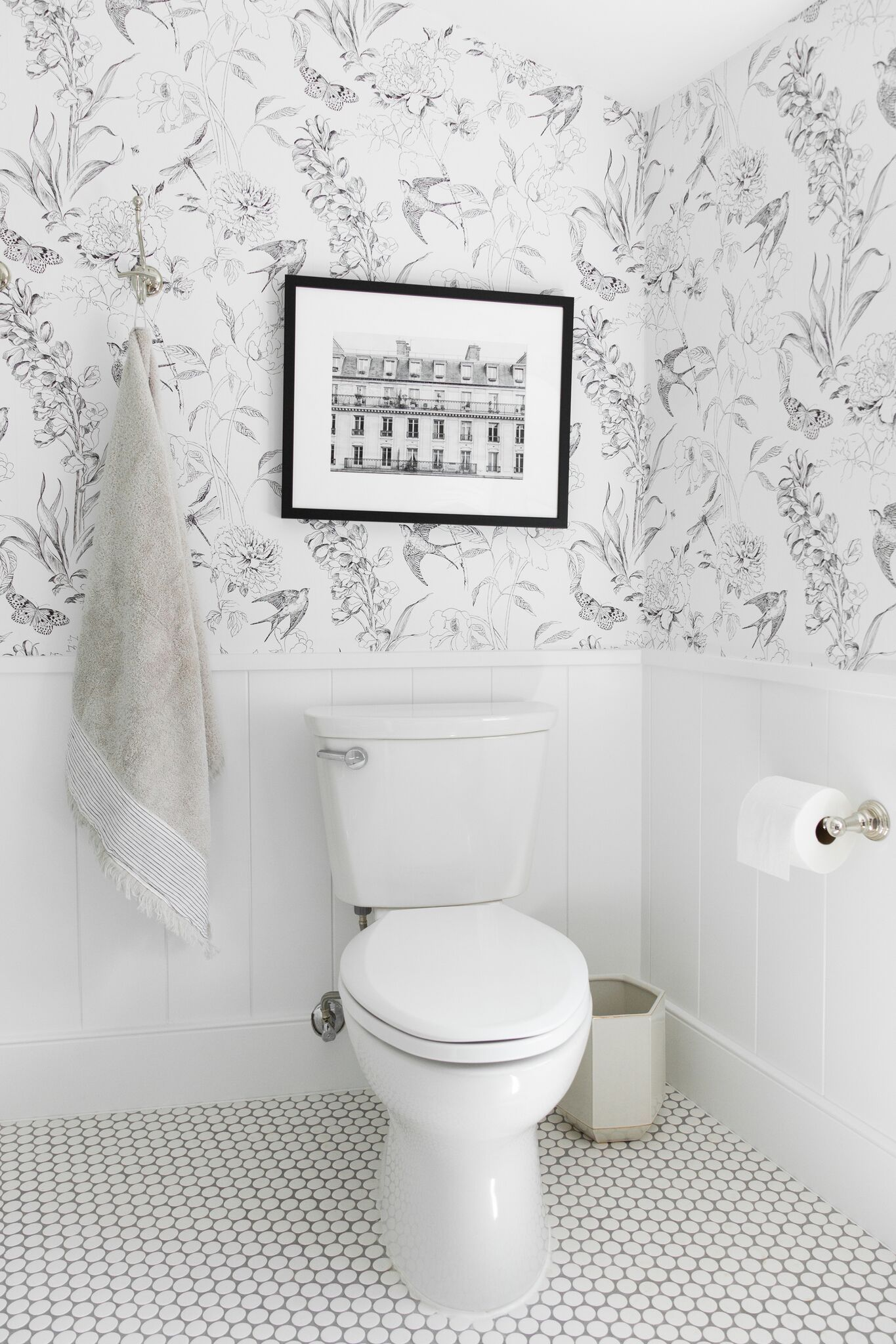 A Whimsical Neutral Kid S Bathroom With Mixed Metals And
