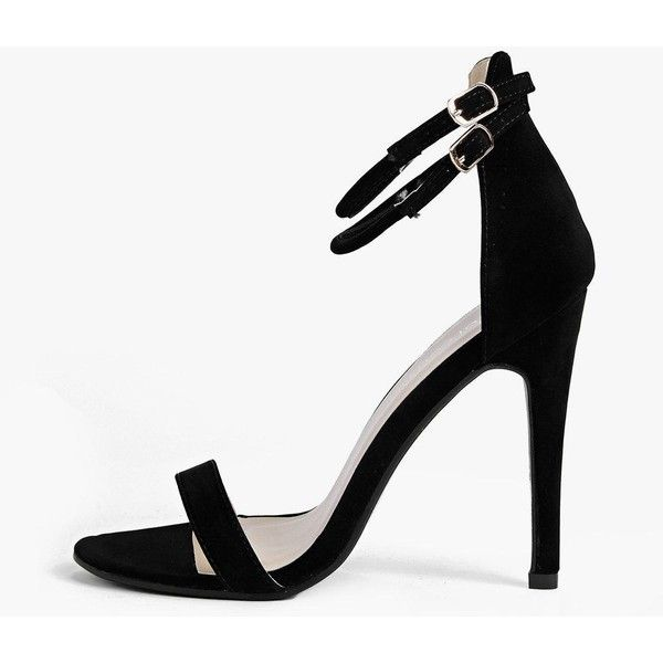 7d026d589fa4 Boohoo Night Lola Double Ankle Band 2 Part Heel ( 44) ❤ liked on Polyvore  featuring shoes