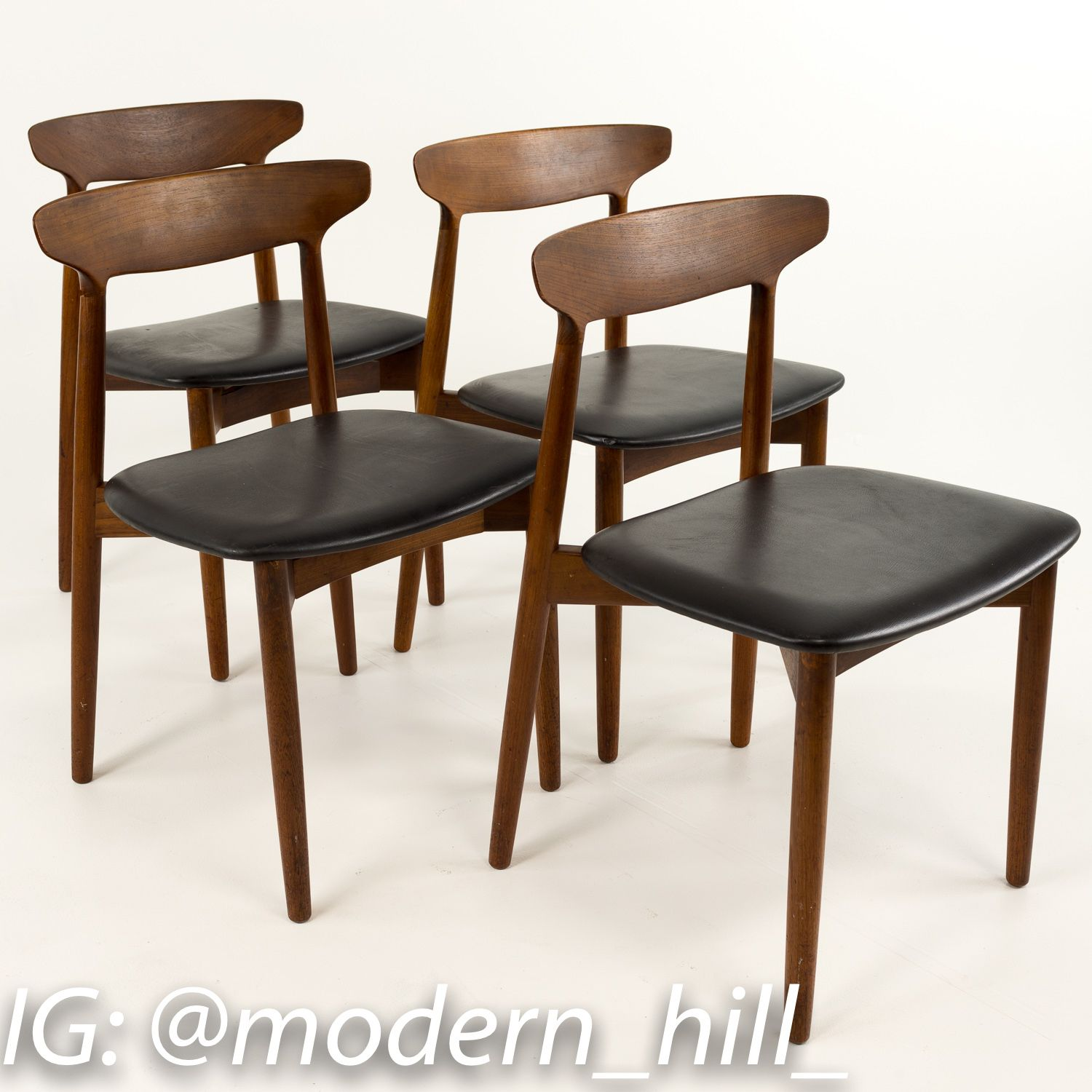Harry Ostergaard For Randers Mobelfabrik Model 59 Dining Chairs