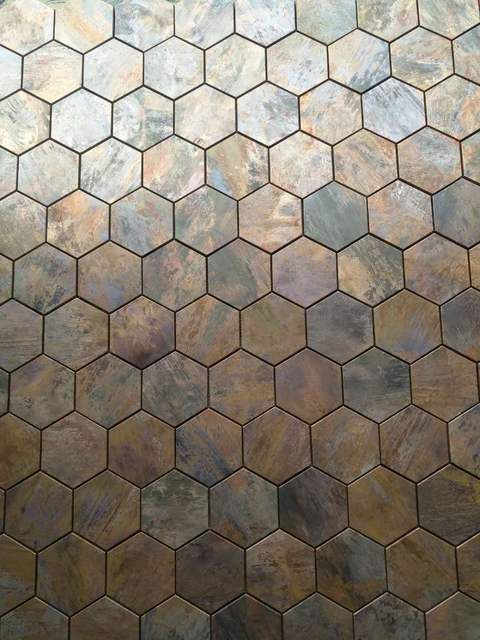 China Hexagonal Copper Wall Tile In Bronze Brushed For Kitchen Backsplash A6yb132 Kitchen Wall Tiles Copper Wall Tiles Kitchen Tiles Backsplash