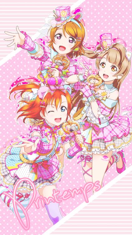 Love Live Printemps Subunit Honoka, Kotori , and Hanayo ...