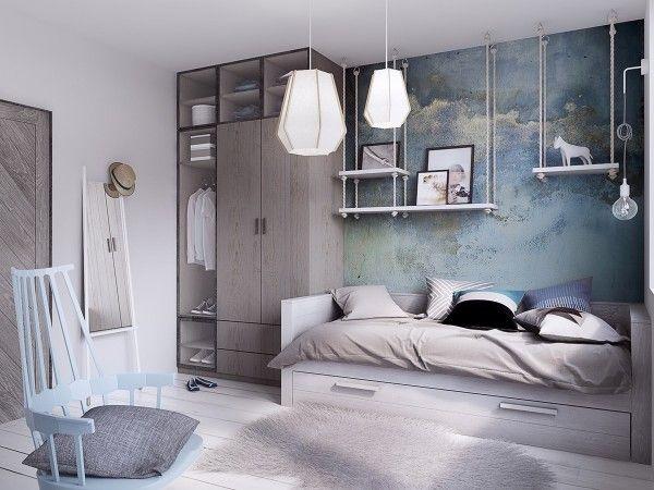 Home designing via concrete finish studio apartments ideas