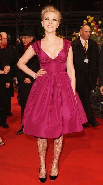 Short flattering red dark pink dress