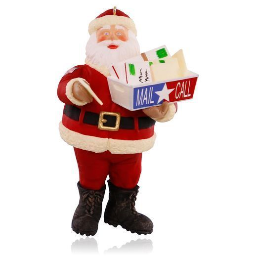 Military Mail Call 2015 Hallmark Ornament Santa Claus Armed Forces  Marines Love