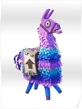 Fortnite Llama Poster Products In 2019 Image Birthday