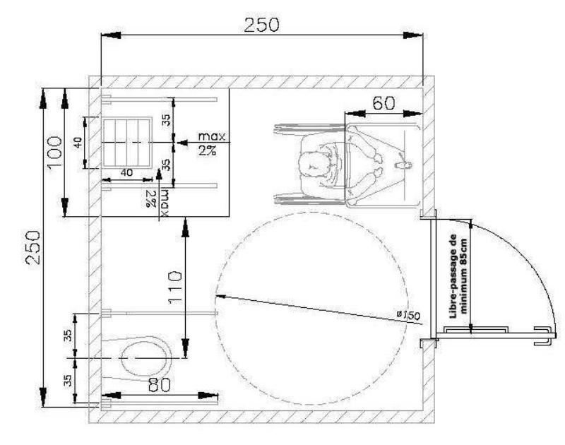 Amenagement D Une Salle De Bain Pmr Salle De Bain Pmr Plan Salle De Bain Salle De Bain
