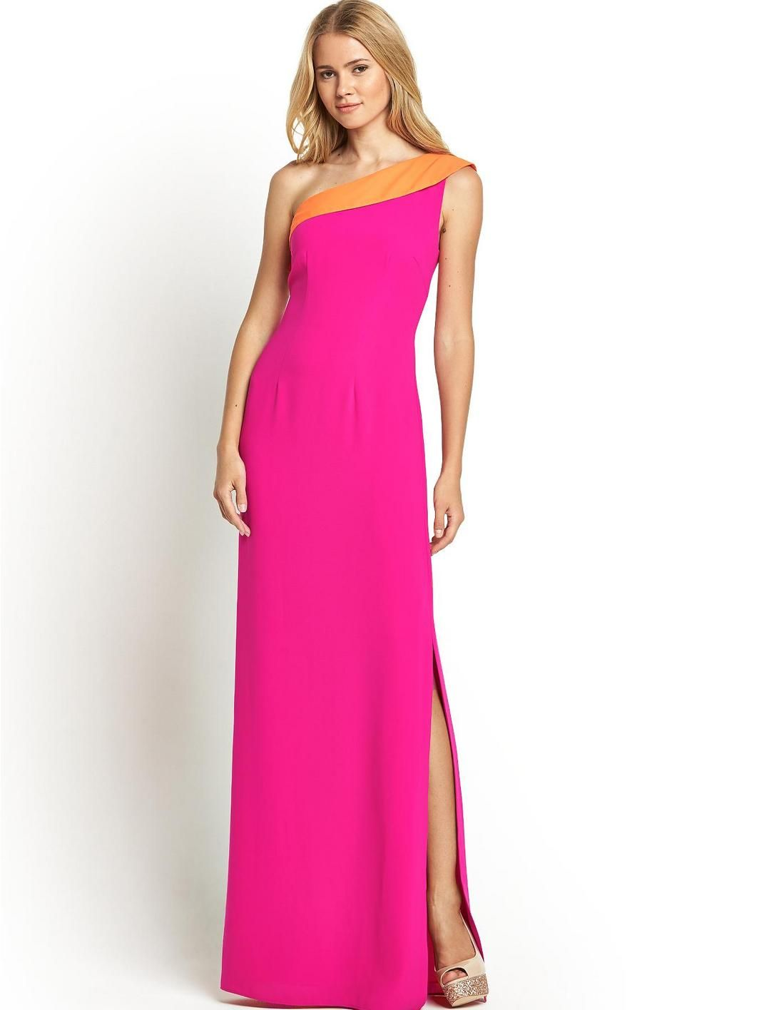 Petite One Shoulder Turnback Maxi Dress, http://www.very.co.uk ...