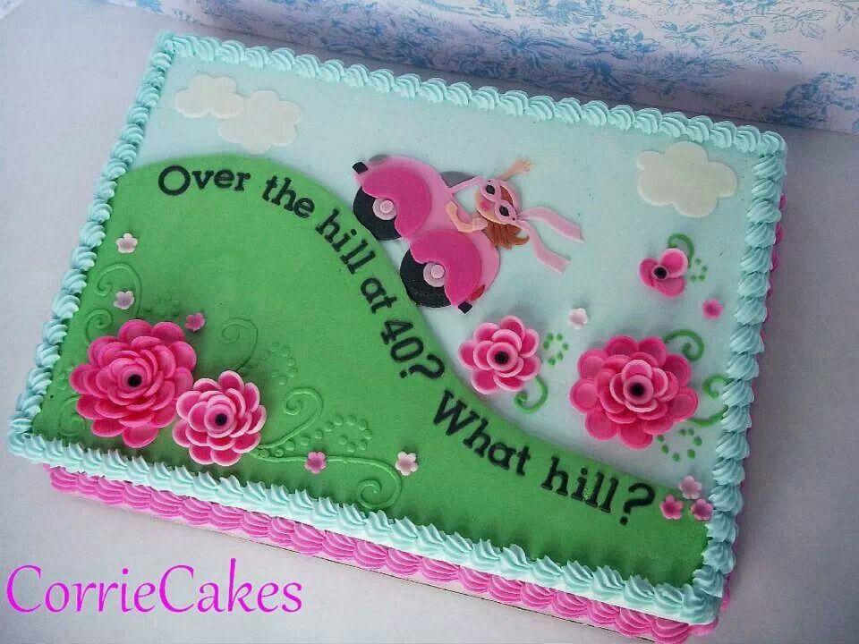 Cute idea over the hill cakes cake 40th birthday cake