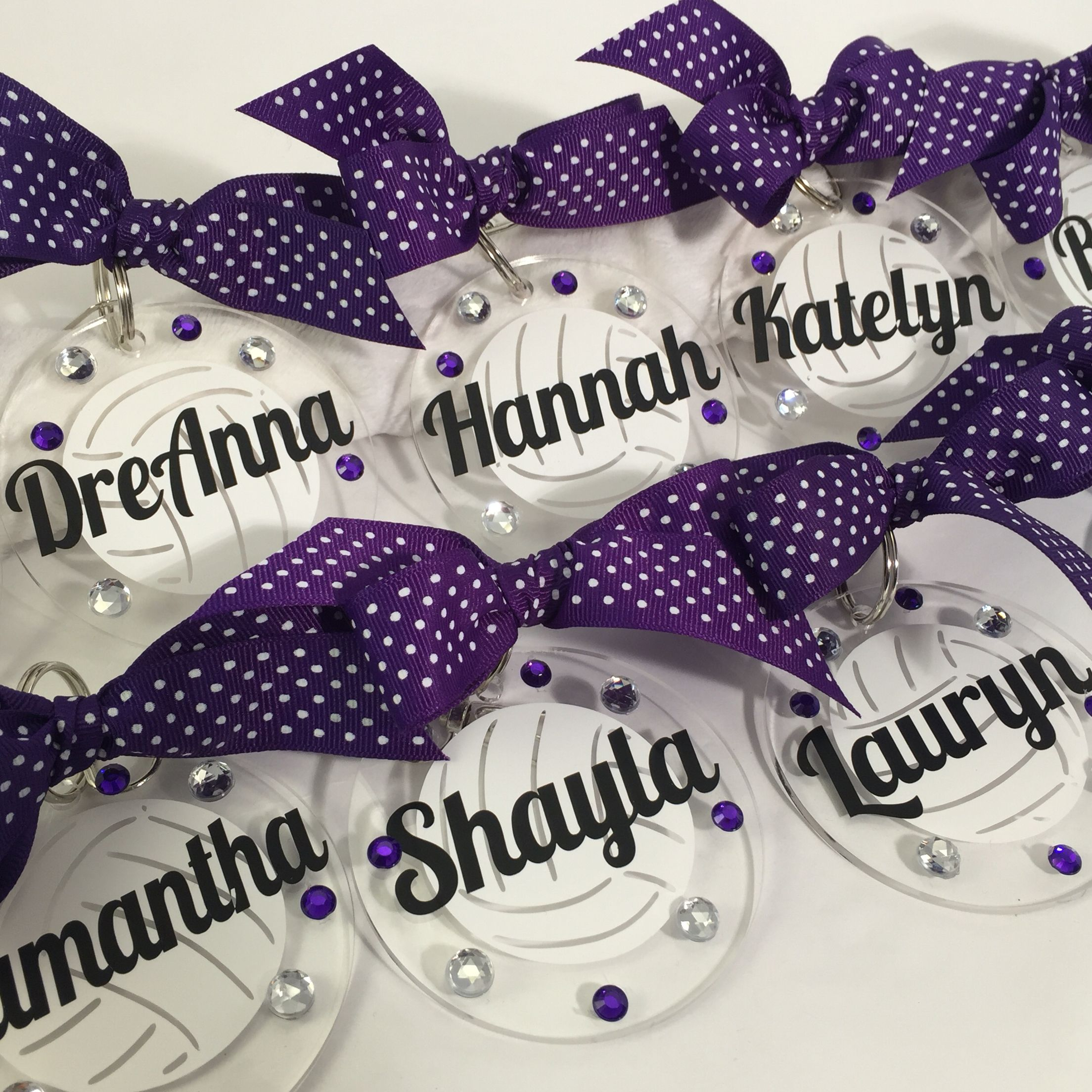 Volleyball Bag Tags In Purple From Www Gemlights Etsy Com Volleyball Bag Tags Bag Tags Acrylic Keychains