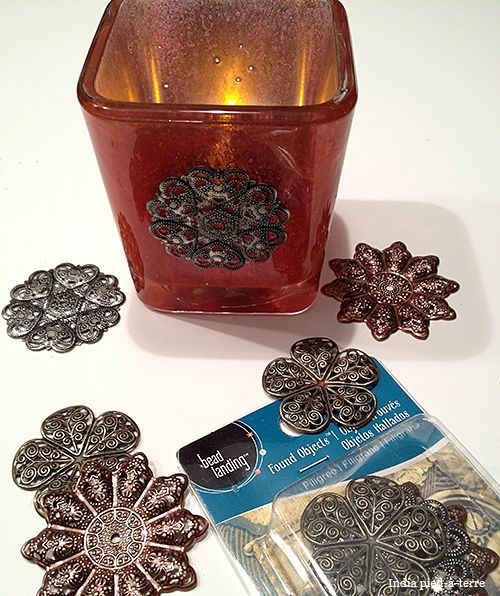 DIY: How to make color mercury glass with Krylon Looking Glass paint and Martha Stewart glass paint