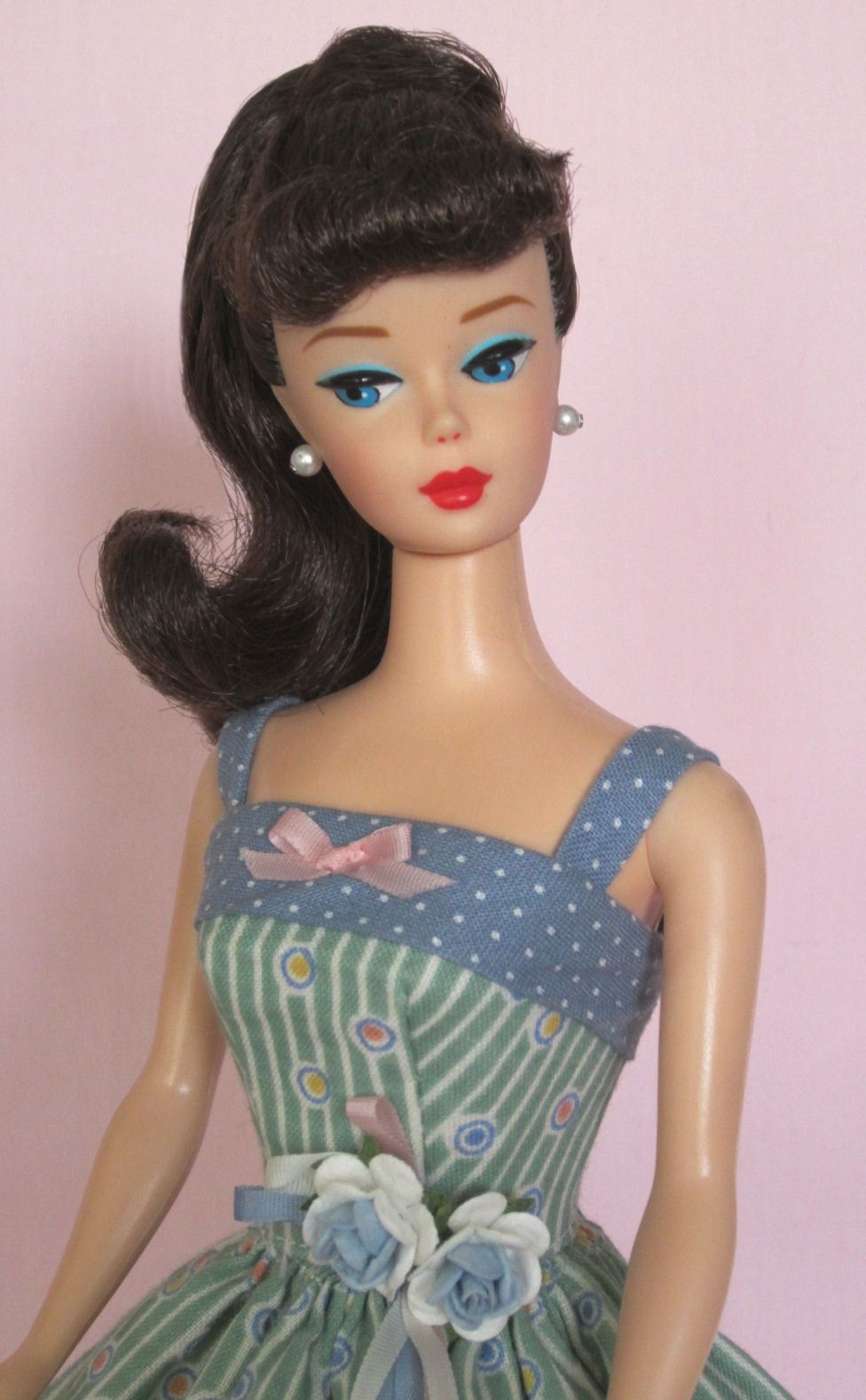 Suddenly Spring! on eBay auction right now! Vintage Barbie Doll Dress Reproduction Barbie Clothes on eBay http://www.ebay.com/usr/fanfare1901?_trksid=p2047675.l2559
