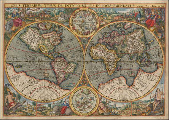 Old maps, World globe, Ancient map, Wall world map, World maps ...