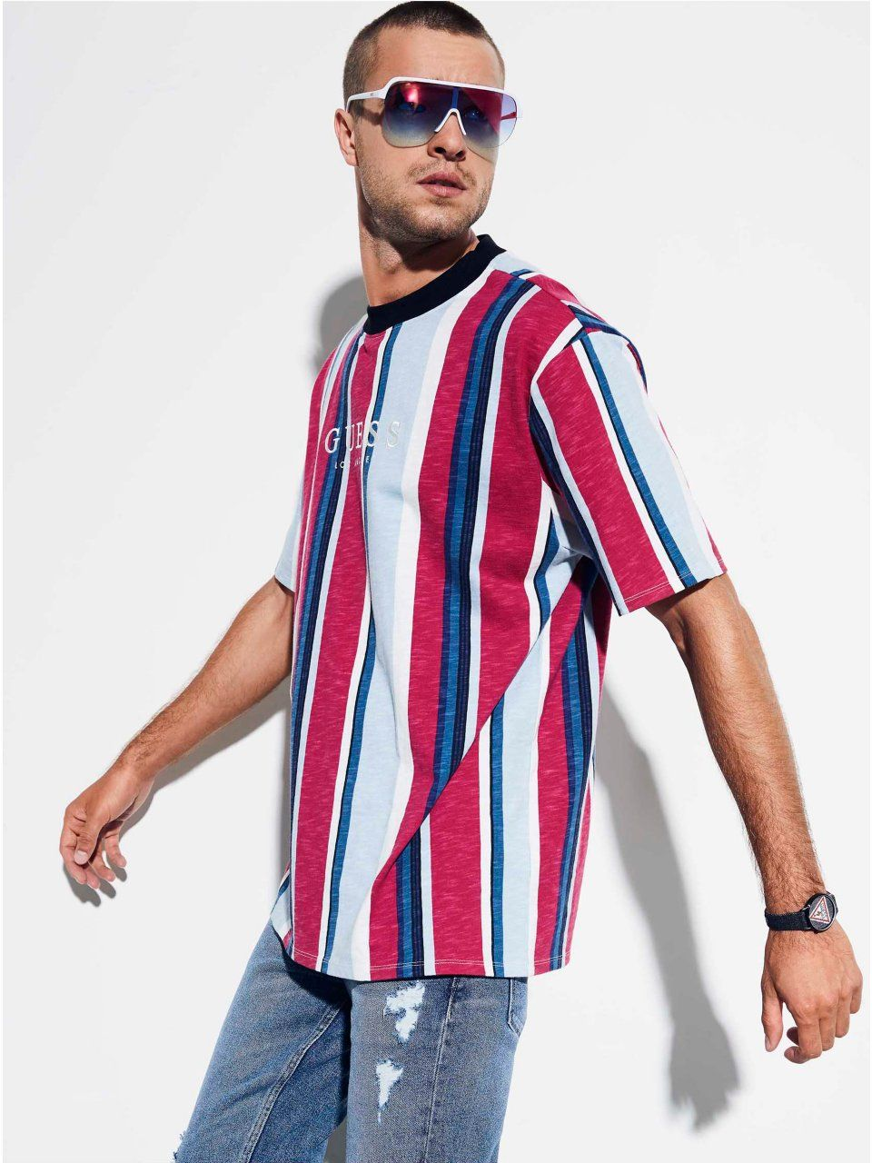7df67d7f GUESS Originals Oversized Sayer Striped Tee in 2019 | Products ...