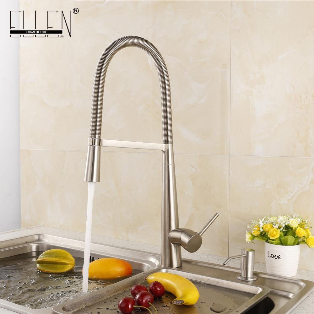 $6230  Buy Soild Brass Brushed Nickel Kitchen Faucet Cold And Extraordinary Brushed Nickel Kitchen Faucet Inspiration