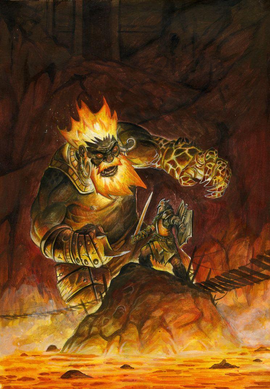 Against the Fire Giant by FStitz on DeviantArt | fantasy ...