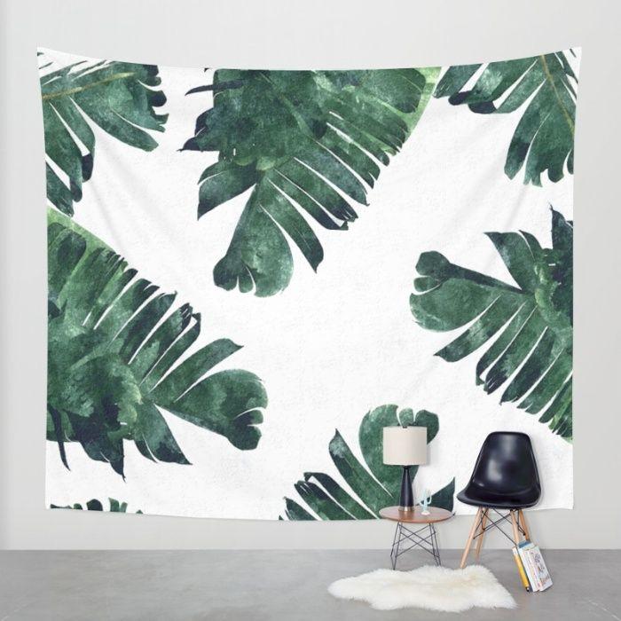 Buy Banana Leaf Watercolor Pattern Society6 Wall Tapestry